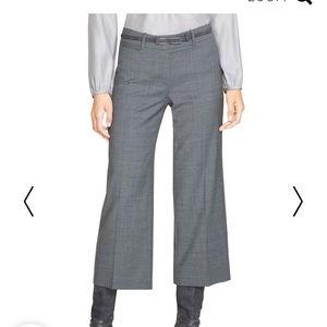 WHBM Gray Cropped Wide Leg Pants